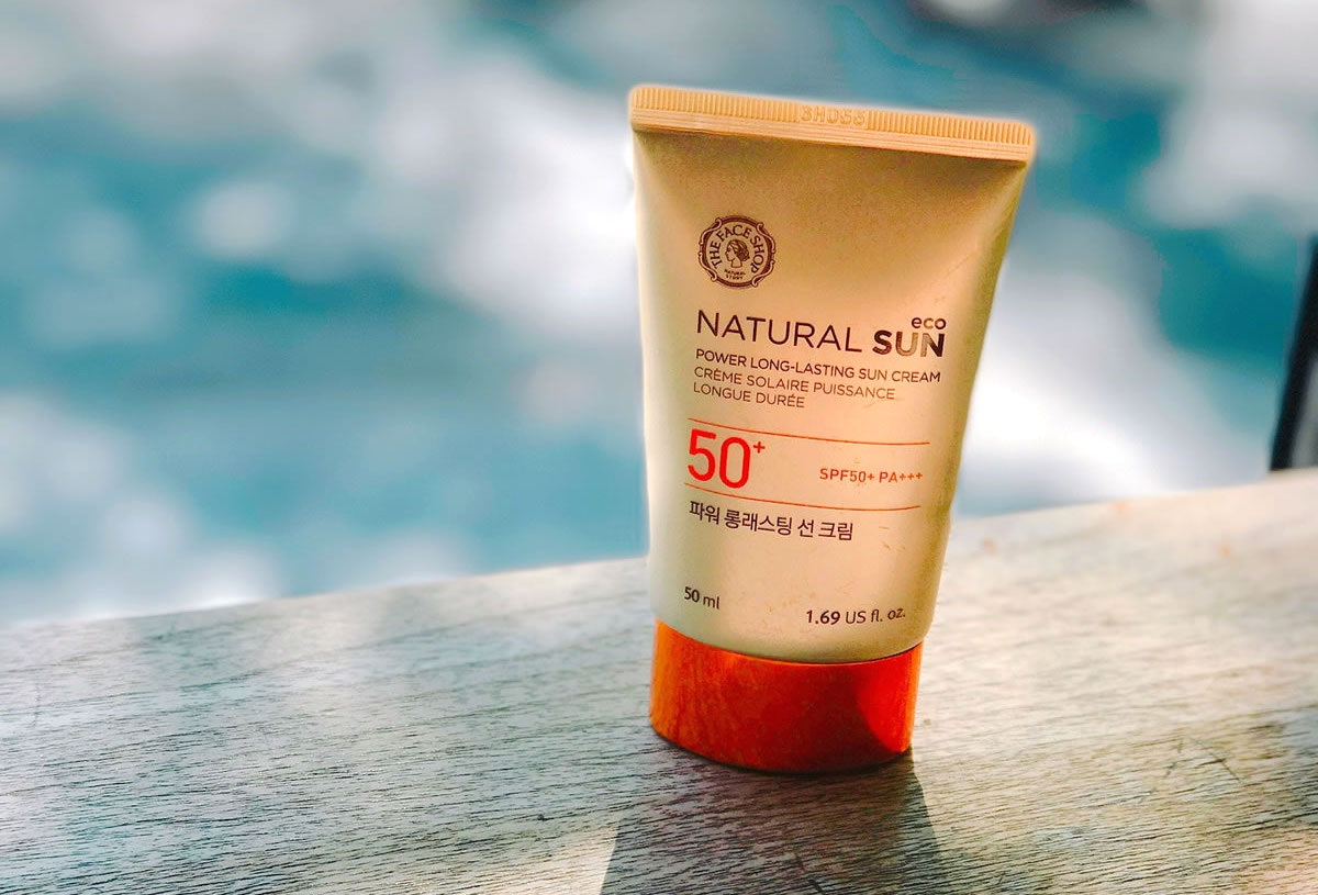 A tube of sunscreen